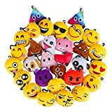 Dyna-Living Emoji Keychain, Emoji Key Chain Mini Plush Poop Pillows, Party Favors for Kids, Christmas/Birthday Party Supplies 2'' Set of 30