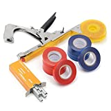 Yellow Metal Tie Stapler Vine Branch Tying Tape - Tools, Industrial & Scientific Tools & Home Improvement - 1 x Branch Tying Tape Tool, 1 x Item Introduction (English), 10 x tapes, 1 x box of pins