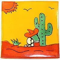 Azulejos Mexicanos Artesanales de Talavera de 10.5cm –