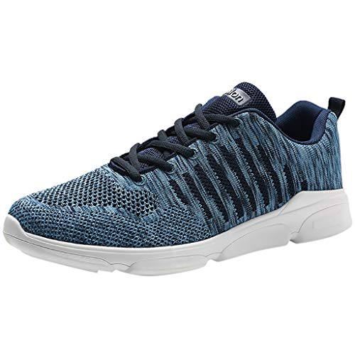 iHPH7 Sneakers Fashion Lightweight Running Shoes Slip-On Casual Shoes for Walking Large Size Woven Breathable Sneakers Trend Wild Casual Running Shoes (47,Blue)]()