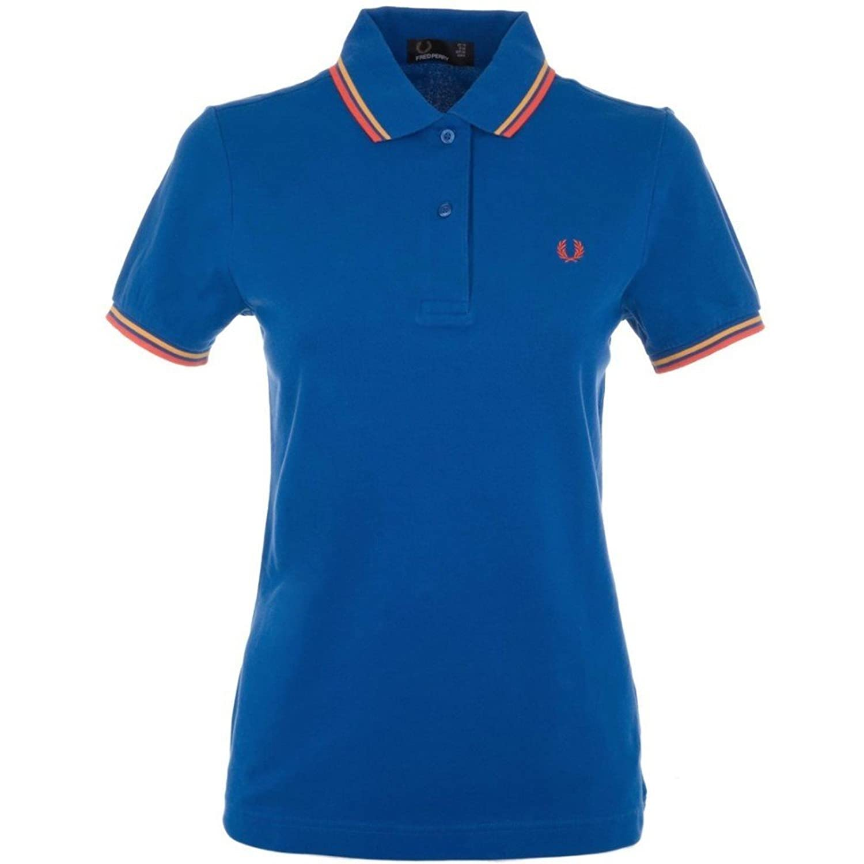 (フレッドペリー) Fred Perry レディース トップス ポロシャツ Blue Cotton Polo Shirt [並行輸入品] B07B66BYLS   16
