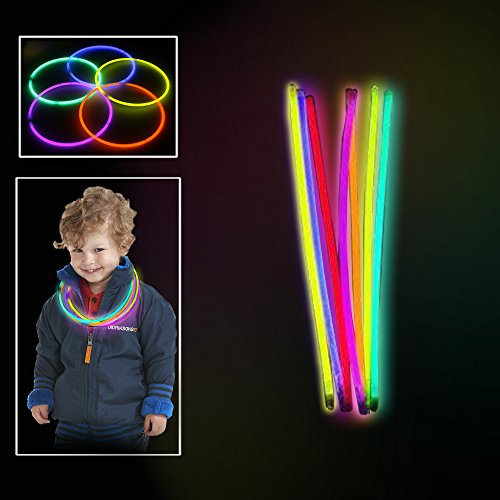 Toy Cubby Extreme Bright Non-Toxic Glowing Colorful Sticks, 100/pack
