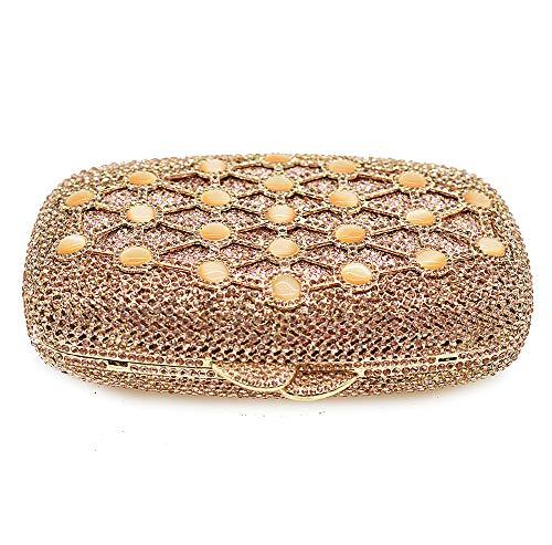 Gold Bolso La Cristalino De Brillante Sobre Embrague Bolso Boda Tarde Gold KOKR Las Partido Seoras De para del del para Hermoso De Mujer BEqSdP