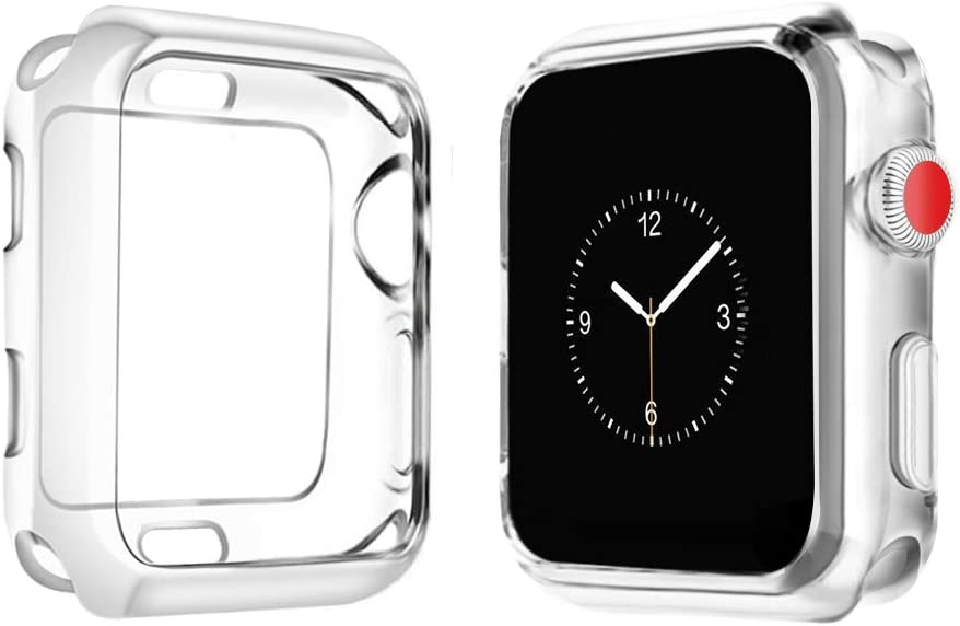 top4cus 44mm Cover Environmental Soft Flexible TPU Anti-Scratch Lightweight Protective 44mm Iwatch Case Compatible with Apple Watch Series 6 Series SE Series 5 Series 4 Series 3/2/1 - Clear