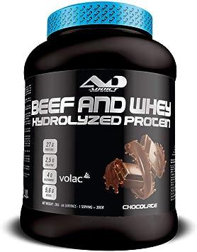 ADDICT SPORT NUTRITION AD - Proteína - Beef and Whey Hydrolyzed Protéin - 2 kilos - Sabor Chocolate