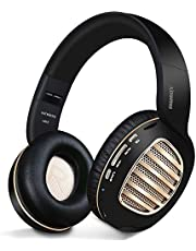Bluetooth Headphones,Riwbox WB5 Wireless Headphones Over Ear with Microphone and SD Card Slot, 5 EQ Sound Modes,Wireless&Wired Foldable Stereo Headset for PC/Cell Phones/TV/Iphone/Ipad