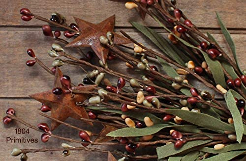 Rustic primitive mustard pip berry stem pick