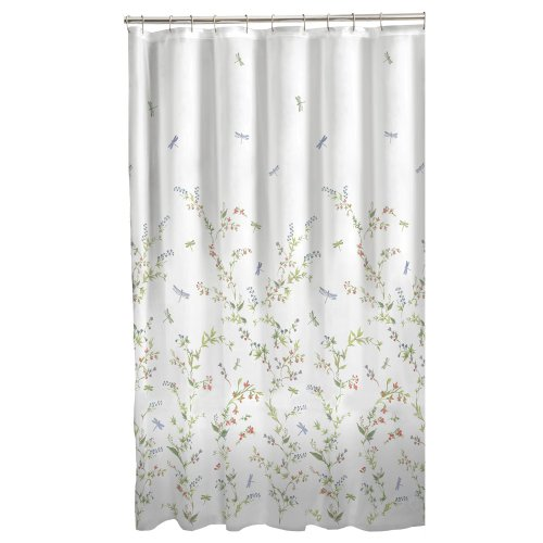 Dragonfly Garden Fabric Shower Curtain