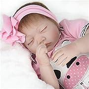 TraveT Sleeping Reborn Baby Doll Realistic Cute Baby Boy Girl Toy