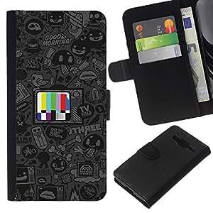 All Phone Most Case / Oferta Especial Cáscara Funda de cuero Monedero Cubierta de proteccion Caso / Wallet Case for Samsung Galaxy Core Prime // Cartoon TV