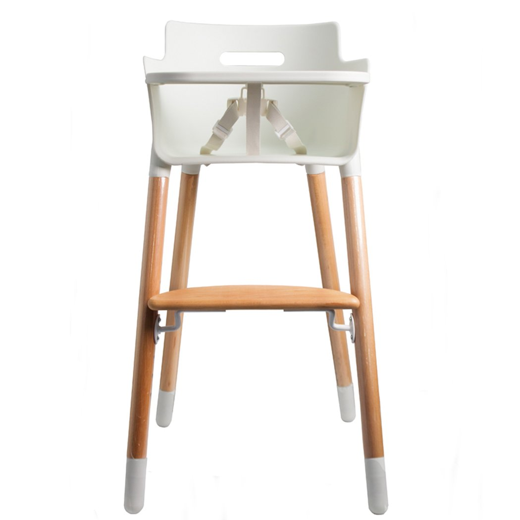 Baby Infant Toddler High Chair Bamboo Feeding Stool With Safety Straps Baby