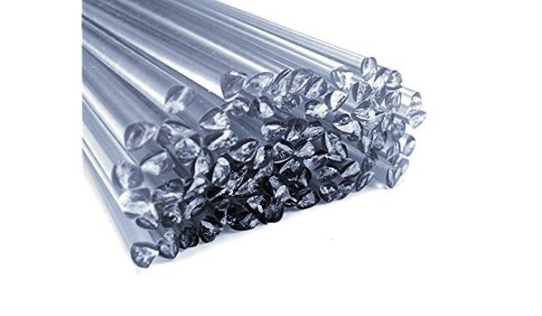 Alambre de soldadura de plástico PVC-U duro 6mm Triangulares Transparente 25 barra: Amazon.es: Coche y moto