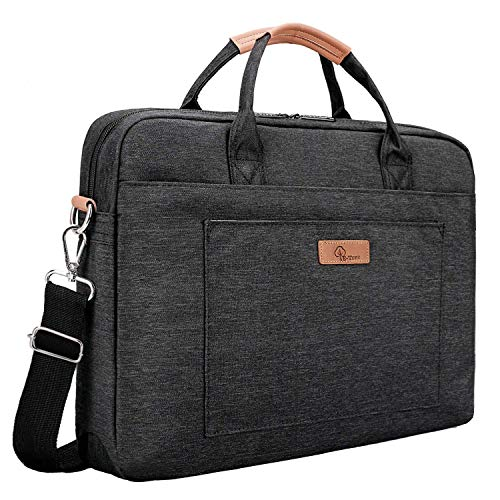 E-Tree 17.3 inch Laptop Sleeve Handbag for 17 to 17.3 Notebook Shock Proof Ultra Light Weight Oxford Laptop Shoulder Bag Computer Bag Briefcase Black
