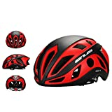 GUB Brand Matte Colors Cycling Bicycle Helmet Unisex Safe Helmet, Ultralight MTB Helmet , For Head Circumference 22.4 – 24 inch (Matte( Black + Red )) Review