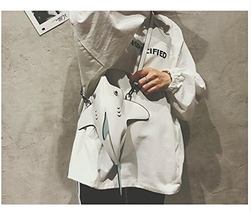 Requin White Tissu Épaule Broderie Décontracté Big À Sac Nouvelle Nylon Main Sac Mode Couture Sauvage De Sac Sac Messenger Sac en Féminin ARx7q6w1