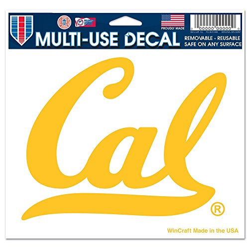 WinCraft NCAA University of California 73022091 Multi-Use Colored Decal, 5