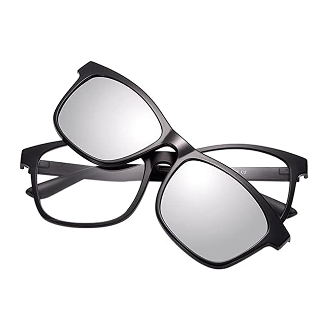 Haodasi EyeBrille Full Frame With Magnet Clip Polarisiert Sonnenbrille Dual-use Brille sQ79iS6