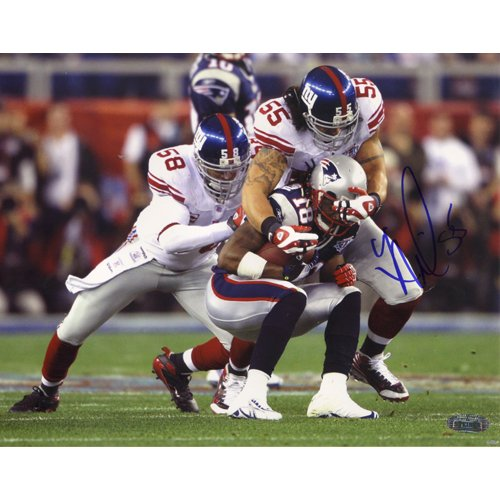 Steiner Sports NFL Kawika Mitchell SB XLII Tackling Stallworth Autographed 8-by-10-Inch Photograph