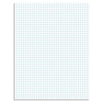 Tops Quadrille Pad, 8.5 X 11 Inches, 15 Pound Stock, 50 Sheets Per Pad, 6 Pads Per Pack, White (99522) 1