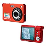 Nacome Camcorder Camera,2.7HD Screen Digital Camera 18MP Anti-Shake Face Detection Camcorder (Red)