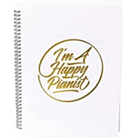 I'm A Happy Pianist Music Sheet Folder For Musicians, A4 Size, 20 Sleeves, 40 Pages (White)