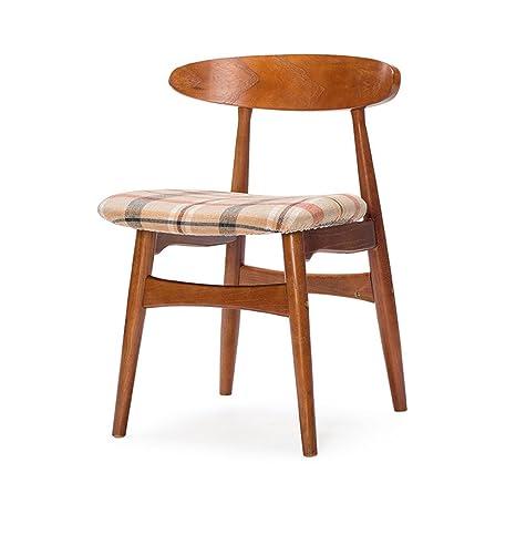 GXJ-stool Sala de Estar Silla de Comedor, Asiento de Tela ...