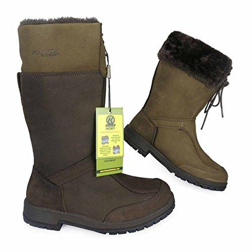 Kanyon Alder Lederstiefel, zum Reiten und für die Landarbeit, 3/4 Höhe, wasserfest, atmungsaktiv, Größen 36�?1 Braun - schokoladenbraun