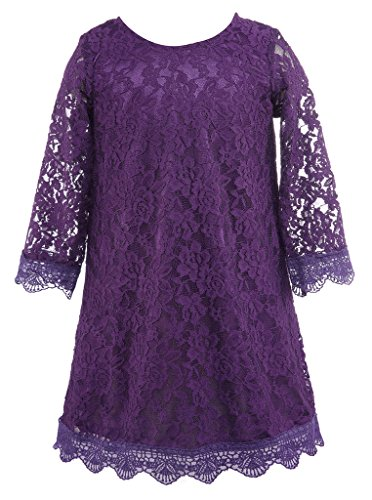 Bow Dream Flower Girl's Dress Purple