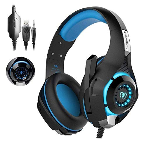 Xbox One Headset|RedHoney PS4 Gaming Headset|Xbox Gaming Headset|LED Gaming Headphones with Microphone for PS4 Xbox One PSP Netendo DS PC Tablet (Blue)