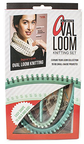 Leisure Arts - Ultimate Oval Loom Knitting Set | Pattern Book with 7 Easy to Follow Patterns | Oval Looms in 2 Sizes with Stitching Tool Included by LEISURE ARTS