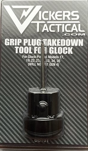 Tango Down Vickers Tactical Grip Plug Takedown Tool for Glock GEN 3 19, 17, 22, 23, 31, 34, 35 (GGT-01) Grip Plugs