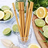 [NEW 2018] Panda Straws - 8 Organic 8'' Bamboo Drinking Straws + 2 CLEANING BRUSHES | Reusable & Compostable Straws | Eco Friendly | Natural Alternative to Plastic | 1% Donated The Ocean Clean Up