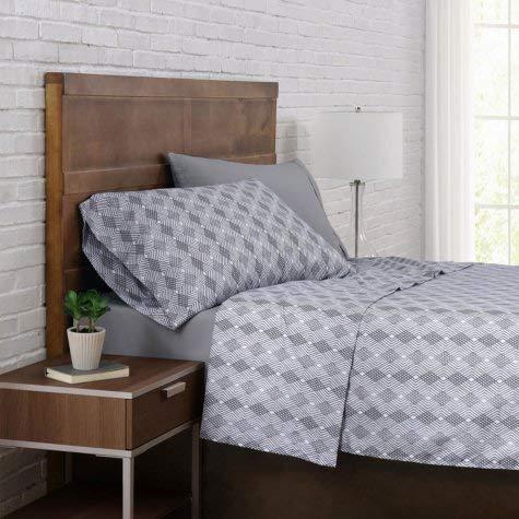 (Brooklyn Loom 12-Piece Cal King Sheet Sets in Argyle Silver )