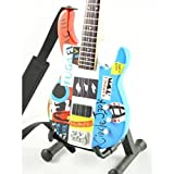 Red Hot Chili Peppers Miniature Guitar- Flea - Fender Modulus Bass Psychedelic - Wood Replica 10 Inches