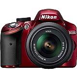 Nikon D3200 Digital SLR Camera & 18-55mm VR Zoom Lens (Red) (Certified Refurbished)