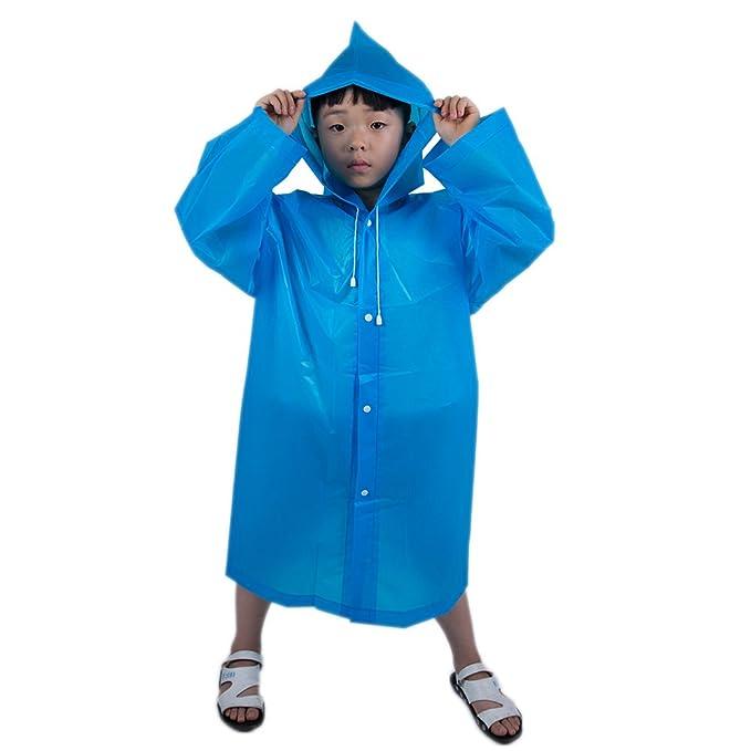 9a156335a5 iBaste_Kinder iBaste Regenjacke Kinder Jungen Mädchen Regenponcho  Regenmantel mit Kapuze Wasserdicht Regencape Kinder-BU Regenjacken &  -mäntel: Amazon.de: ...