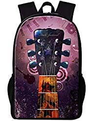 CrazyTravel Teens Boys Girls Music Print Back To School Bookbag Backpacks for School