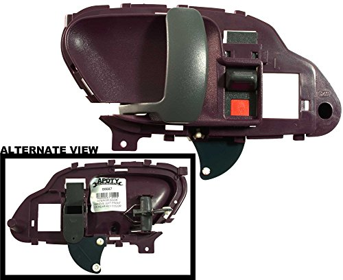 APDTY 88687 Interior Door Handle Front or Rear Left Red Fits 1999-2000 Cadillac Escalade / 1995-1999 Chevy GMC C/K 1500 2500 3500 Pickup / 1995-2000 Tahoe / 1995-2000 GMC Yukon (Replaces GM 15708049) (Handle Rear Door Interior Red)