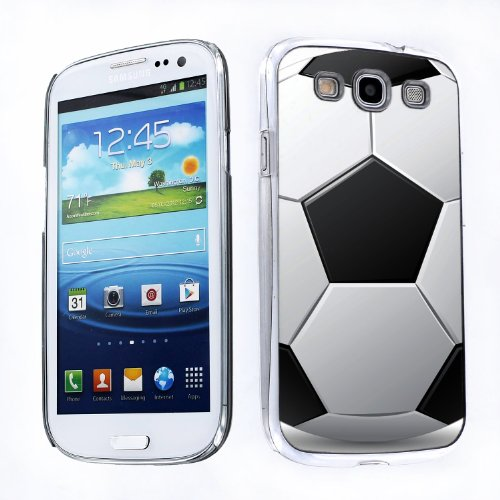 One Tough Shield ® Slim-Fit Hard Protector Case for Samsung Galaxy S-III S3 - (Soccer Galaxy S3 Case)