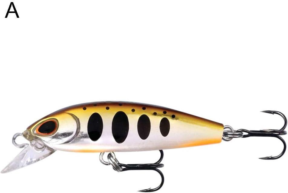 haixclvyE 5cm 6g Fishing Hard Bait Artificial Hard Lifelike Fish Tool Water Fish Swim Bait Minnow Lure Wobbler Fishing Gear