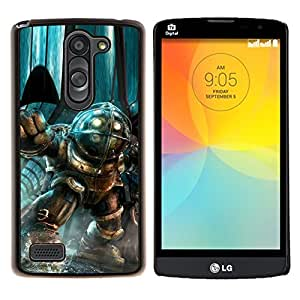 Qstar Arte & diseño plástico duro Fundas Cover Cubre Hard Case Cover para LG L Prime D337 / L Bello D337 (Gran papá)
