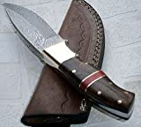 Sk-197, Custom Handmade Damascus Steel Bushcraft Knife - Stunning Easy Grip Handle