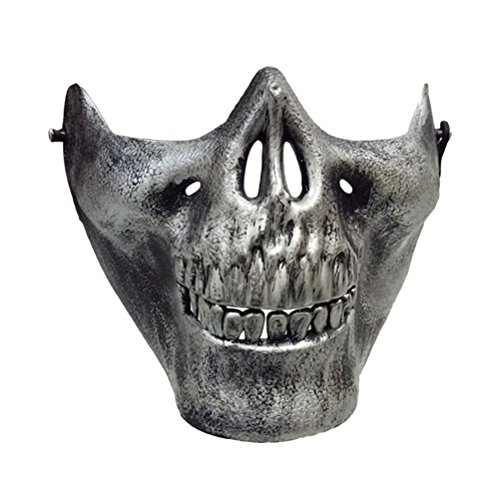 Tinksky Halloween Costumes Skull Skeleton Mask Full Face Protector Halloween Mask for Cosplay Masquerade Party (Antique (Skeleton Halloween Costume Face)