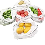 Luckiplus Reusable Produce Bags Premium Washable Eco Friendly Mesh Bags Pack of 10 (11x11 inches)