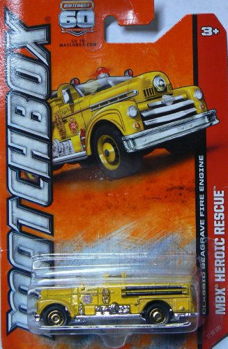 Matchbox MBX Heroic Rescue Yellow Classic Seagrave Fire Engine 17 of 120 -