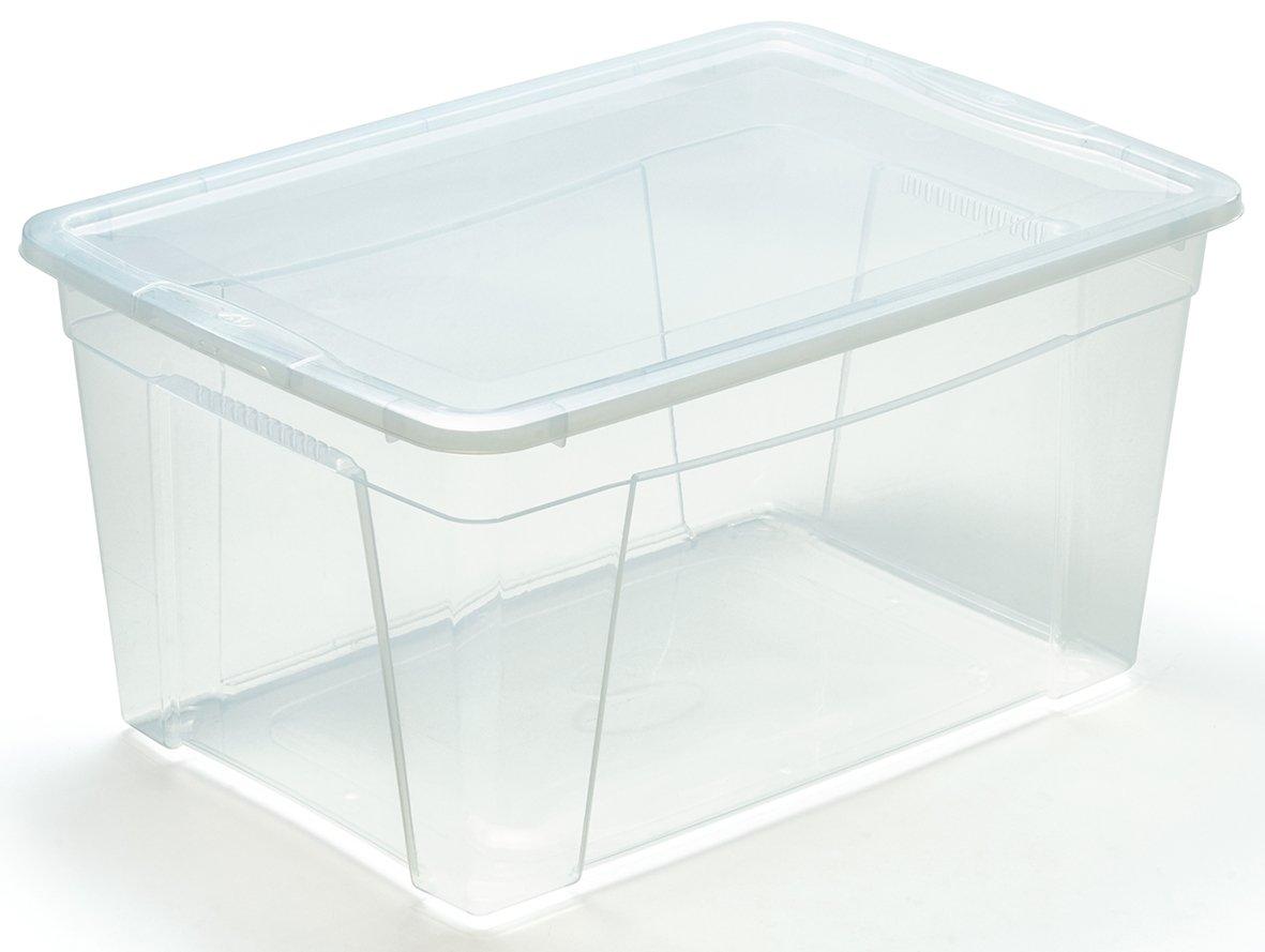 Pl/ã/¡Stico 56x39.5x29 cm M Home Caja de Almacenaje 7 43 l Transl/úcido