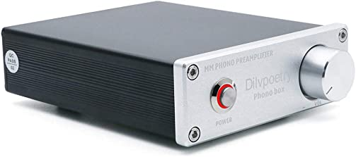 Dilvpoetry Phono Box Mini Phono Turntable Preamp Preamplifier with DC12V RCA Input for Vinyl Record Player Silver