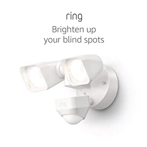 Ring Smart Lighting – Floodlight, Wired, Outdoor Motion-Sensor Security Light, White (Ring Bridge required)
