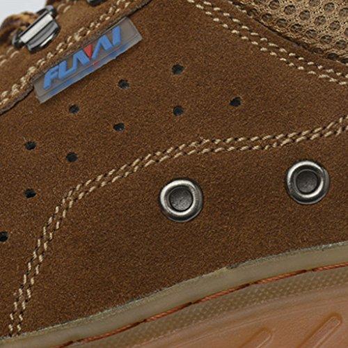 Baoblaze Chaussures De Travail en Acier De Sécurité Bottes pour Hommes Brun jyO9qdaeF
