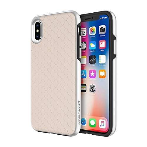 Rebecca Minkoff Luxury Calls Case for iPhone X - Snakeskin Inlay Nude Snake